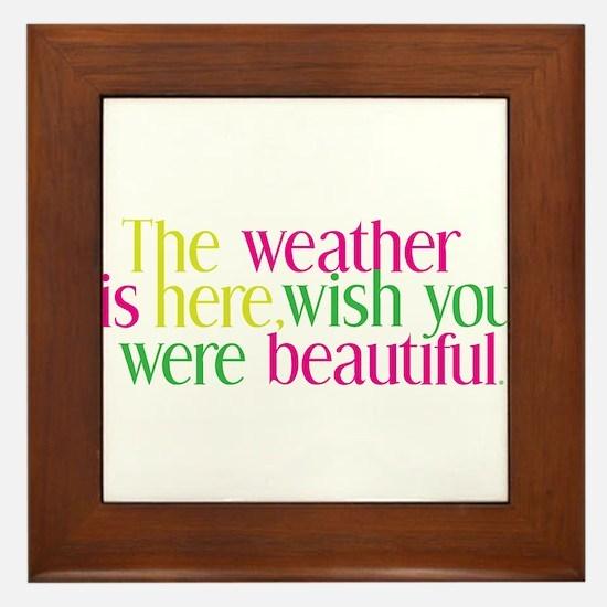 The Weather Framed Tile