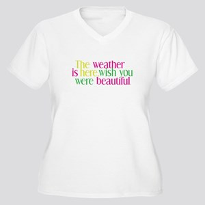 The Weather Women's Plus Size V-Neck T-Shirt