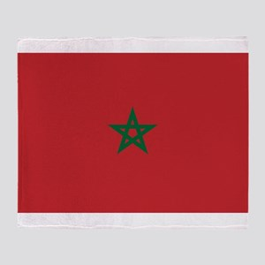 Morocco - National Flag - Current Throw Blanket