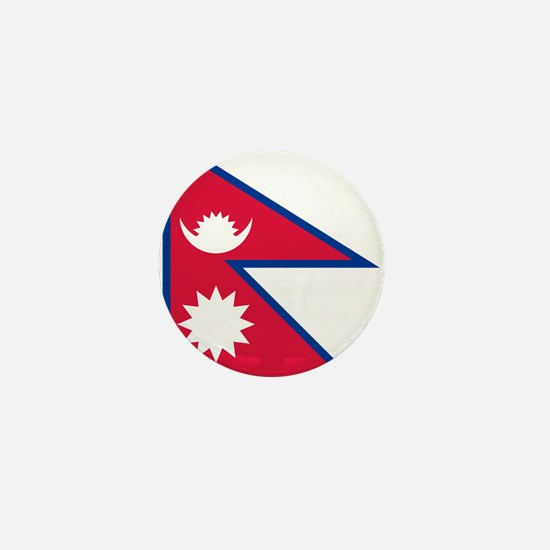 Nepal - National Flag - Current Mini Button