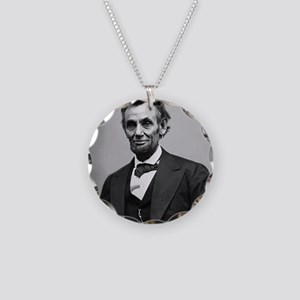 Abraham Lincoln Necklace Circle Charm