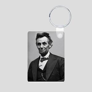 Abraham Lincoln Aluminum Photo Keychain