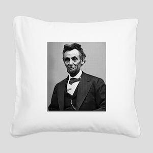Abraham Lincoln Square Canvas Pillow