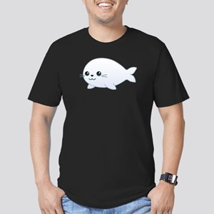 baby seal Men's Fitted T-Shirt (dark)
