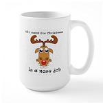 Reindeer Christmas Large Mug
