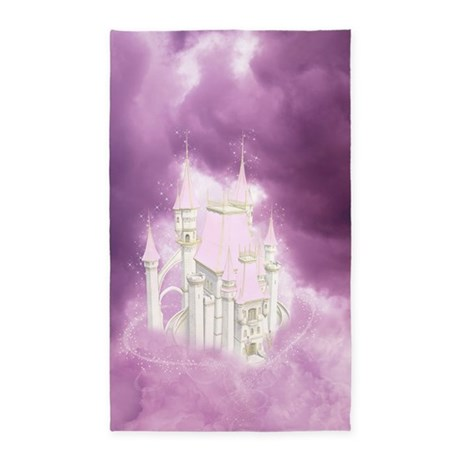 Pink Fairytale Castle 3'x5' Area Rug