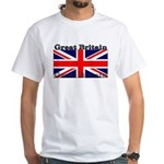 Great Britain British Flag White T-Shirt