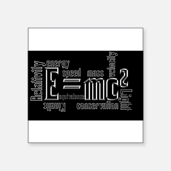 Science Mass Equivalence E=mc2 Einstein Design Squ