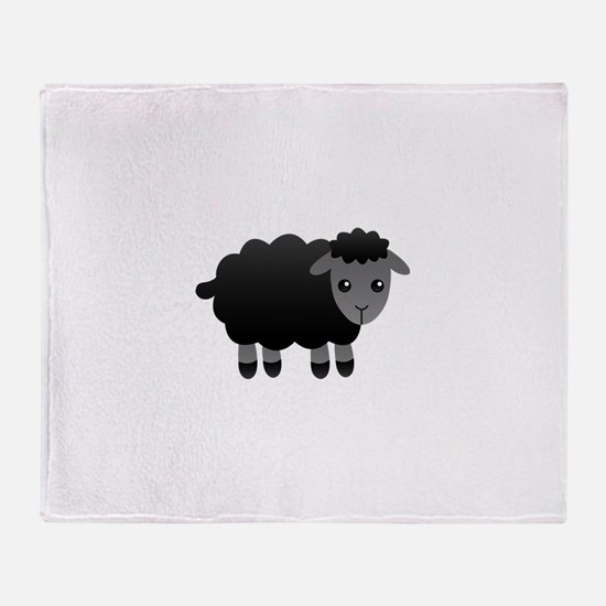 black sheep Throw Blanket