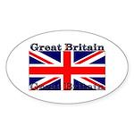 Great Britain British Flag Oval Sticker