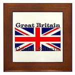 Great Britain British Flag Framed Tile