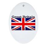 Great Britain British Flag Oval Ornament