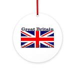 Great Britain British Flag Christmas Ornament