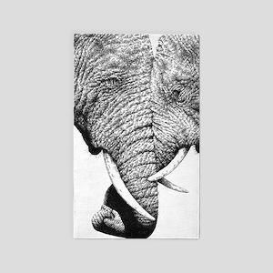 Elephants Trunks Entwined 3'x5' Area Rug