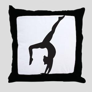 Gymnastics Kickover Throw Pillow