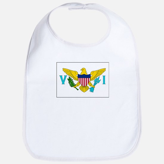 The United States Virgin Islands Flag Picture Bib