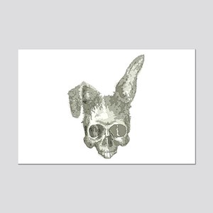Bunny skull Mini Poster Print