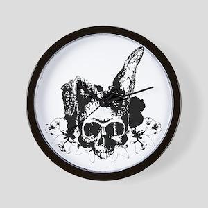 Bunny Skull 2 Wall Clock