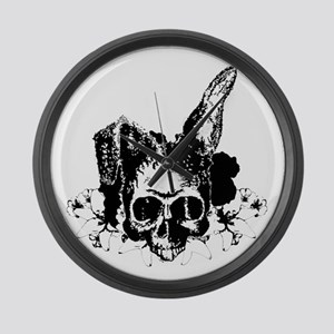 Bunny Skull 2 Large Wall Clock