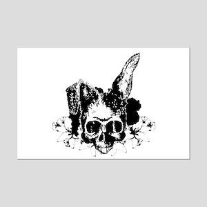Bunny Skull 2 Mini Poster Print