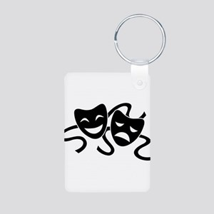 theatre masks Aluminum Photo Keychain