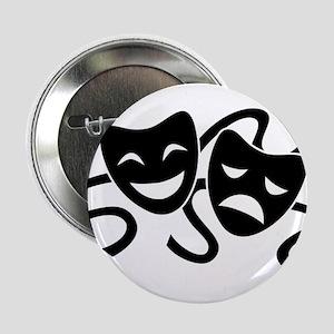"theatre masks 2.25"" Button"