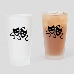 theatre masks Drinking Glass