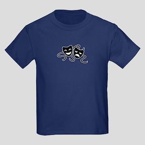 theatre masks Kids Dark T-Shirt