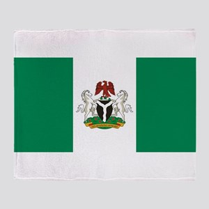 Nigeria - State Flag - Current Throw Blanket