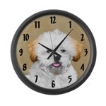 Lhasa Apso Large Wall Clock