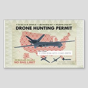Drone Hunting Permit Sticker (Rectangle)