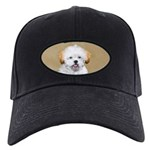 Lhasa Apso Black Cap with Patch