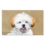 Lhasa Apso Sticker (Rectangle 10 pk)