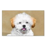 Lhasa Apso Sticker (Rectangle 50 pk)