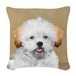 Lhasa Apso Woven Throw Pillow