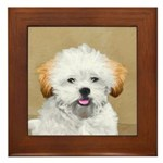 Lhasa Apso Framed Tile