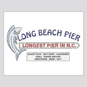 Vintage Long Beach Pier Small Poster
