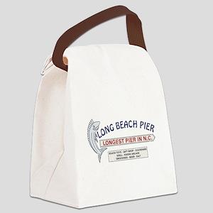 Vintage Long Beach Pier Canvas Lunch Bag