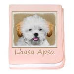 Lhasa Apso baby blanket