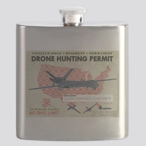 Drone Hunting Permit Flask