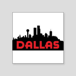 """Dallas Slyline Square Sticker 3"""" x 3"""""""