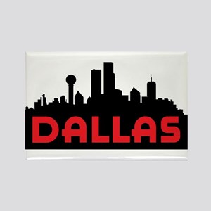 Dallas Slyline Rectangle Magnet