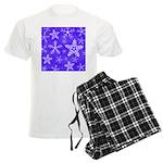 Purple and White Snowflake Pattern Men's Light Paj