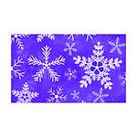 Purple and White Snowflake Pattern 35x21 Wall Deca