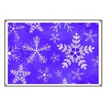 Purple and White Snowflake Pattern Banner
