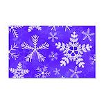 Purple and White Snowflake Pattern 20x12 Wall Deca