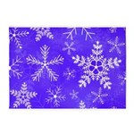 Purple and White Snowflake Pattern 5'x7'Area Rug