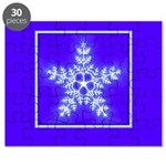 Purple and White Star Snowflake Puzzle