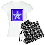 Purple and White Star Snowflake Women's Light Paja