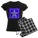 Purple and White Star Snowflake Women's Dark Pajam